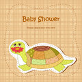 Baby shower with amusing turtle Royalty Free Stock Photos