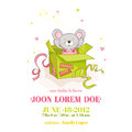 Baby Shower or Arrival Card - Baby Mouse Girl Royalty Free Stock Photo