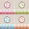 Baby shower backgrounds it is a girl and it is a boy Royalty Free Stock Photography