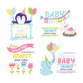 Baby shower badge happy mothers day insignias logotype sticker stamp icon frame and card design doodle vintage hand