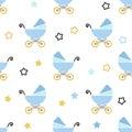 Baby shower boy seamless pattern.
