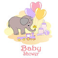 Baby Shower card. Stock Photos