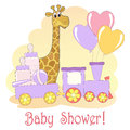 Baby Shower card. Royalty Free Stock Photos