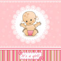 Baby Shower card. Stock Images