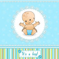 Baby Shower card. Stock Photo