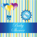 Baby shower card for a boy Stock Photography