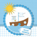 Baby shower card design. vector illustration Stock Photo