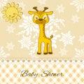 Baby Shower card with giraffe.