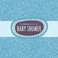Baby shower card or newborn photo album cover template Royalty Free Stock Photo