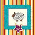 Baby shower card with sheep Stock Photography