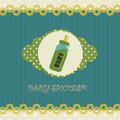 Baby shower card for your design Stock Images