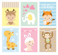 Baby Shower Cards Animal Theme Set