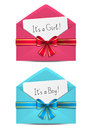 Baby shower cards in envelopes Royalty Free Stock Image