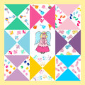 Baby shower design,cute quilts for baby Royalty Free Stock Photo
