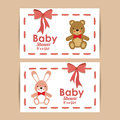 Baby shower design over pink background vector illustration Royalty Free Stock Photography