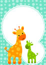 Baby Shower Giraffe Invitation Card