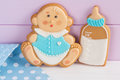 Baby shower icing cookies for party Royalty Free Stock Image