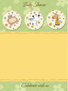 Baby shower invitation Royalty Free Stock Photo