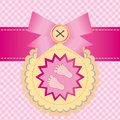 Baby shower invitation card for a girl Royalty Free Stock Photo