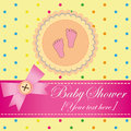 Baby shower invitation card for a girl Royalty Free Stock Photography