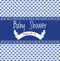 Baby shower invitation card illustration of for boys Royalty Free Stock Images