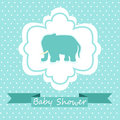 Baby shower invitation cute card Royalty Free Stock Images