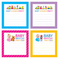Baby Shower invitations Royalty Free Stock Photo