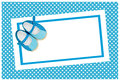 Baby shower invite Royalty Free Stock Images