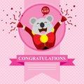 Baby Shower Koala Royalty Free Stock Photo