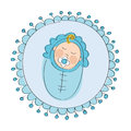 Baby shower - it`s a boy card - original hand drawn illustration