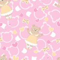 Baby shower seamless with bear pattern Stock Image