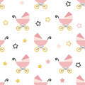 Baby shower seamless pattern.