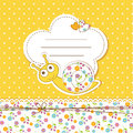Baby shower with snail Royalty Free Stock Photo