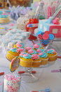 Baby shower and sweets on the table a for twins Royalty Free Stock Photography