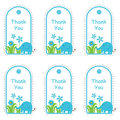 Baby shower tag card with cute elephant and flowers