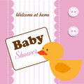Baby showers over shirt background vector illustration Stock Photos