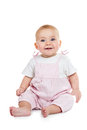 Baby is sitting on floor Royalty Free Stock Photo