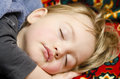 Baby sleep a cute boy sleeping in his bedroom Royalty Free Stock Images