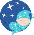 Sleeping Baby Illustration