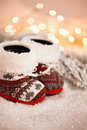 Baby Slippers Near Christmas T...
