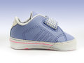Baby sneaker open velcro strap isolated clipping path included Stock Image