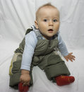 Baby in snow suit Stock Image