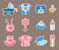 Baby stickers Stock Images