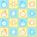 Baby stitches seamless pattern