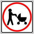 Baby stroller vector sign Royalty Free Stock Photo