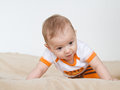Baby struggle struggles to lift himself up Royalty Free Stock Photos