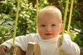 Baby in Swing Royalty Free Stock Photo