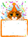 Baby Tiger Birthday Stock Photography