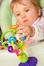 Baby with toy Royalty Free Stock Photo