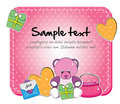 Baby toy card Royalty Free Stock Image